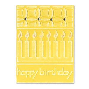 Sizzix Stanz-u. Prägeform Embosslits XL Happy Birthday mit Kerzen 655385