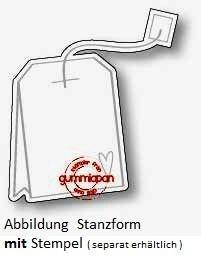 Gummiapan Stanzform Teebeutel / Tepase D170322