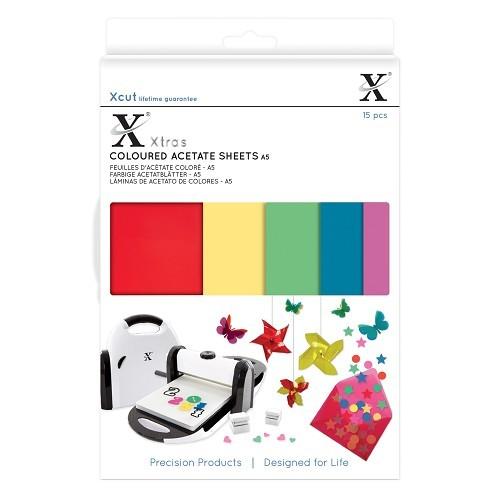 XCut A 5 Coloured Acetate Sheets ( 15 x ) XCU 174401