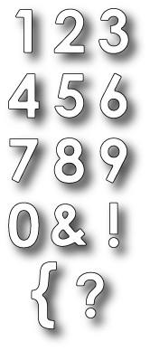 Memory Box Stanzform PARKER Zahlen / PARKER Number Set 98365