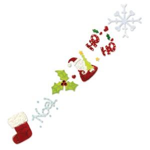 Sizzix Stanzform Sizzlits Border Weihnachts-Advents-Kalender # 4 655651