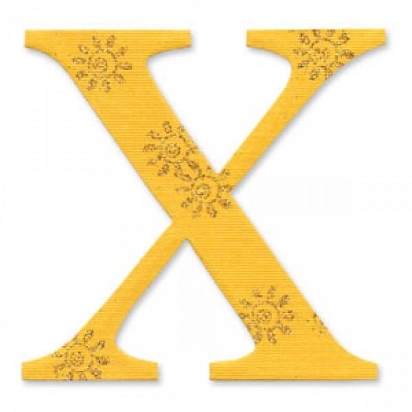 "Sizzix BIGZ Stanzform Buchstabe "" X "" Alphabet Sassy Serif 654739"