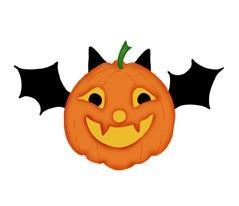 Fledermaus-Kürbis / pumpkin bat 0497