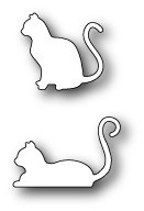 Poppystamps Stanzform Katzen / Poised Cats 1400