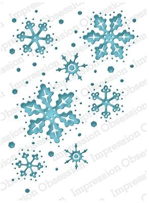 Impression Obsession Serendipity Stanzform Schneeflocken / Snowflake Reverse SSDIE-080-K