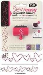 Ersatz-Kopf Stitch Piercer LARGE HEARTS 71094-3 ( pink )