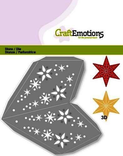 CraftEmotions Stanzform Weihnachtsstern 115633/0204