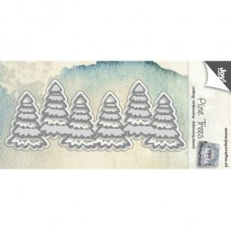 Joycrats Stanz-u. Prägeform Tannenbaum-Reihe / Pine Trees 6002/0548