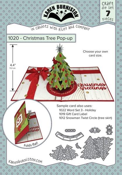 Karen Burniston Stanzform Weihnachtsbaum Pop-Up / Christmas Tree Pop-Up 1020