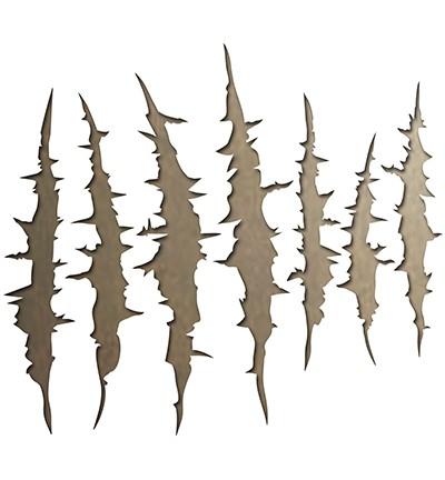 Sizzix Thinlits Stanzform Kratzspuren / Claw Marks 662383