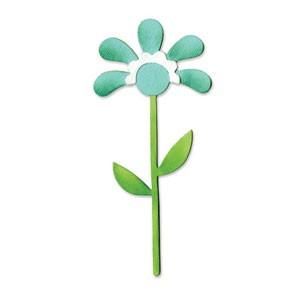Sizzix Stanzform BIGZ Blume mit Blätter u. Stengel # 2 / flower w / leaves & stem # 2 656521