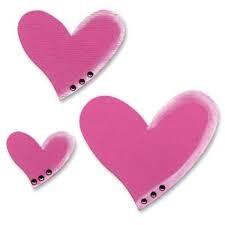 Ellison Design Thick Cuts Stanzform lustige Herzen / hearts tipsy 22315