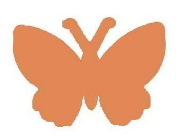 EK Success Motivstanzer medium Schmetterling PSM94C ( orange )