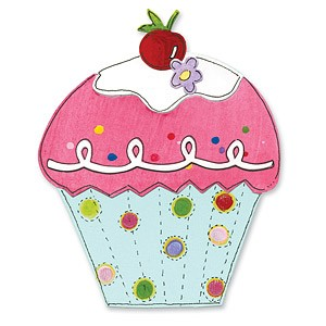 Sizzix Stanzform BIGZ Muffin / cupcake & cherry 656111 / 656204
