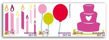 Toga Stanzform-Set Geburtstag / Anniversaire DCT09