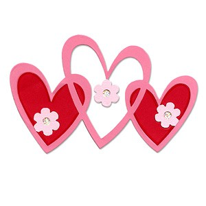 Sizzix Stanzform BIGZ Herzen zusammenhängend / hearts intertwined 655695