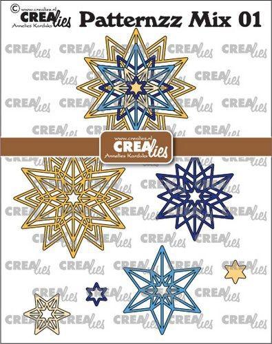 Crealies Stanzform Patternzz Mix Dies No. 01 Rosette Starlight CLPATMix01