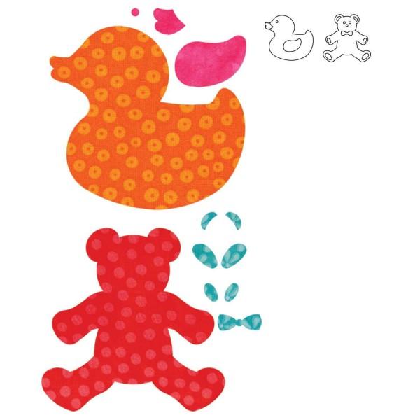 AccuCut Stanzform Go ! Ente u. Teddy / baby, baby 55037
