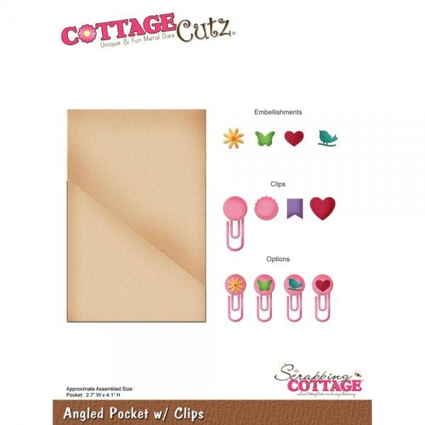 CottageCutz Stanzform Einstecktasche mit clips / Angled Pocket w/ Clips CC-134