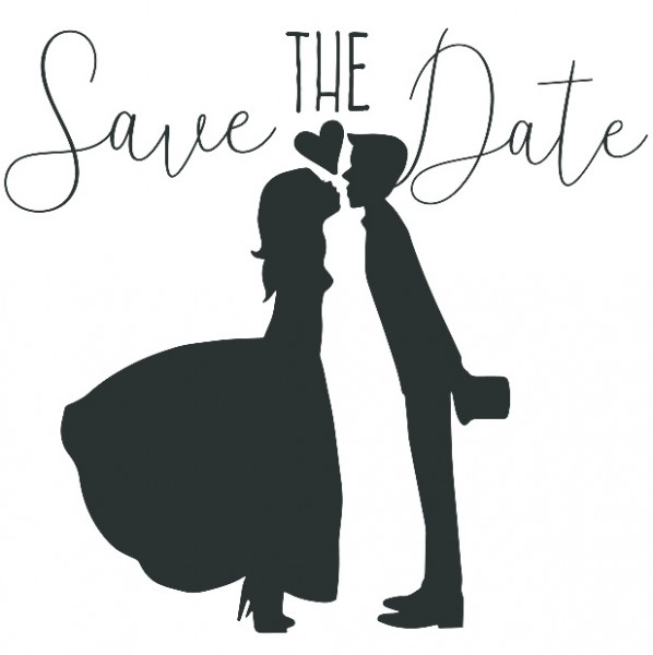 Aladine Holzstempel Hochzeitspaar ' Save The Date ' / Save The Date Couple F01749