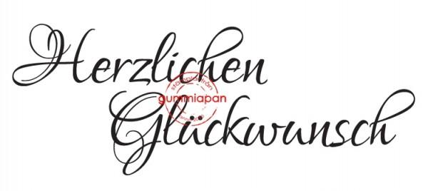 Gummiapan Stempelgummi ' Herzlichen Glückwunsch ' 14031105