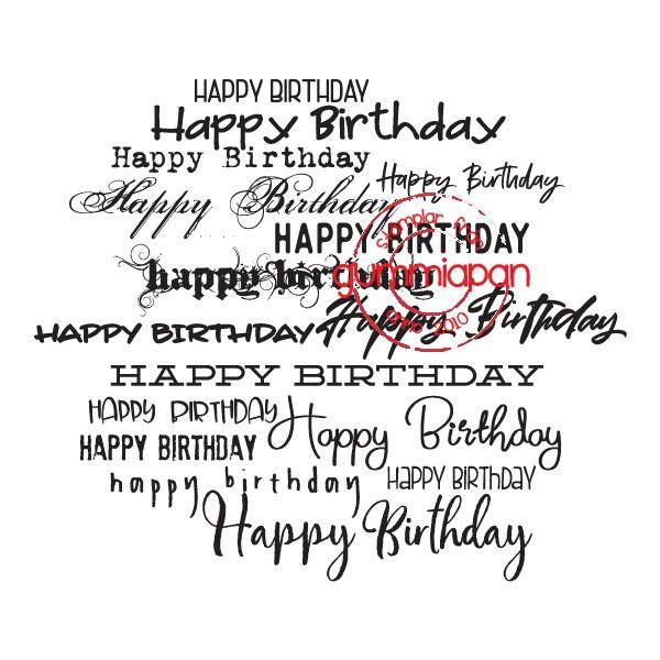 Gummiapan Stempelgummi ' Happy Birthday ' Hintergrund / Happy Birthday Backgrund 18010101