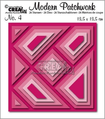 Crealies Stanzform Modern Patchwork Nr. 4 Quadrat CLMP04