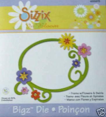 BIGZ Rahmen mit Blumen u. Wirbel / frame w/flowers 655 973