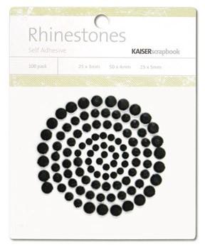 Rhinestones / Glitzersteine selbstklebend SCHWARZ SB777