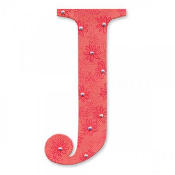 """Sizzix BIGZ Stanzform Buchstabe """" J """" Alphabet Sassy Serif 654725"""