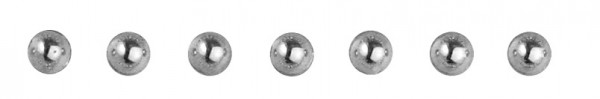 Plastik-Halbperlen selbstklebend 2 mm SILBER 15-106-22