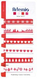 ARTEMIO Bänder-Set ROT-WEISS Weihnachten 6 x 1 Meter 11005063