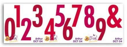 Toga Stanzform-Set Zahlen Arthur / Arthur DCT04