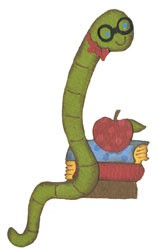 Bücherwurm / bookworm 0932