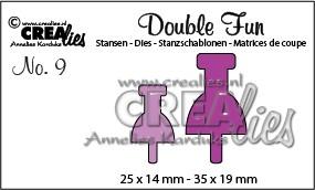 Crealies Stanzform Double Fun Pin CLDF09