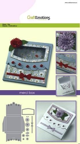 CraftEmotions Stanz- u. Prägeform Merci-Box 115633/1503