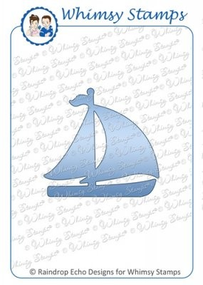 Whimsy Stamps Stanzform Segelboot / Sailboat WSD204