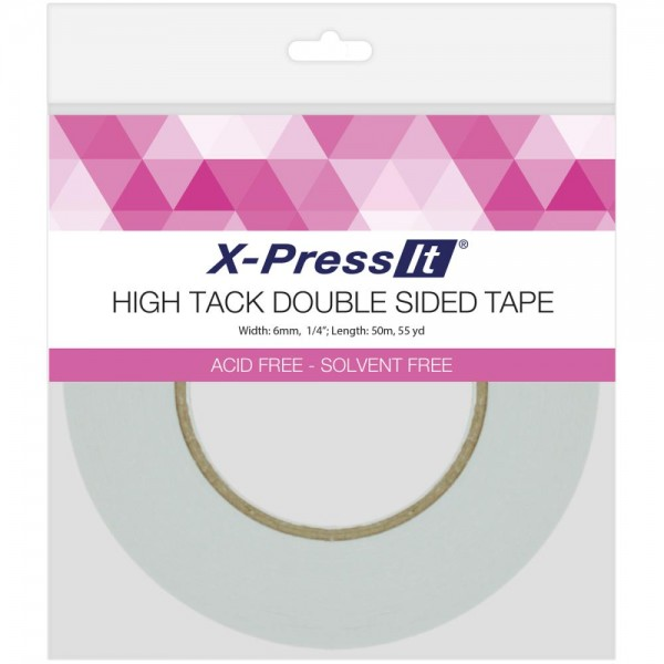 "X-Press IT Klebeband doppelseitig 1/4 "" x 55 yrd / 6 mm x 50 Meter DSH6"