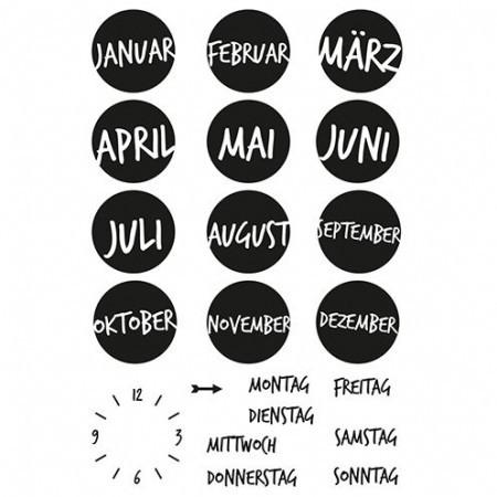Efco Clear Stempel-Set Kalender 1 4511157