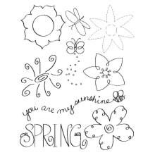 Sizzix RubOns Frühlingsblumen / flowers spring 655082