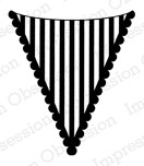 Impression Obsession Cling Stempel Striped Flag C8662