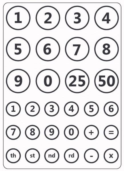 Prägefolder exclusiv Zahlen/ numbers CTFD3010