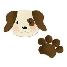 Sizzix Stanzform BIGZ Hund u. Tatze / dog head & paw 655914