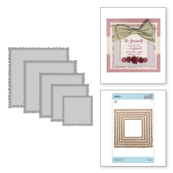 Spellbinders Stanz-u. Prägeform Vintage Stitched Squares S7-215