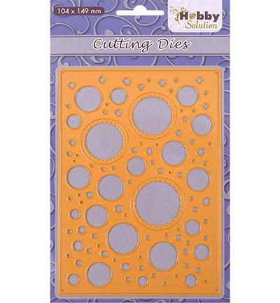 Nellie Stanzform Hintergrund Blasen / Bubbles HSFD017