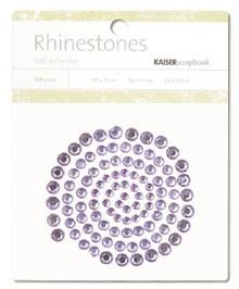 Rhinestones / Glitzersteine selbstklebend HELL-LILA SB705