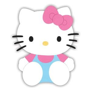 Sizzix Stanzform Originals LARGE Hello Kitty sitzend mit Schleife / sitting w / bow 655791