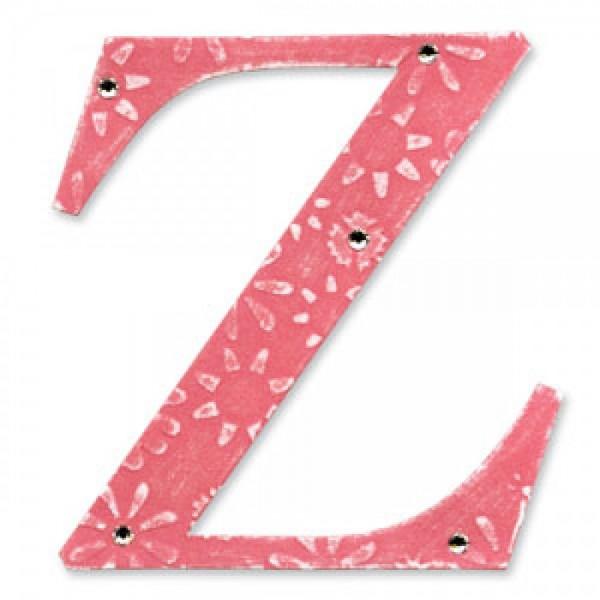 """Sizzix BIGZ Stanzform Buchstabe """" Z """" Alphabet Sassy Serif 654741"""
