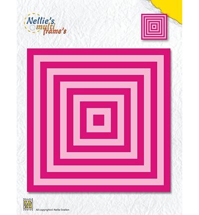 Nellie Stanz- u. Prägeform Quadrate / Square Straight Corners MFD119