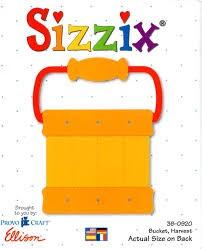 Sizzix Stanzform Originals LARGE Eimer / bucket, harvest 38-0920